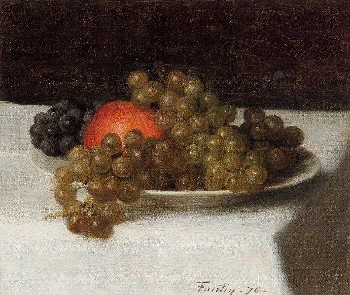 色彩细腻丰富,拉图尔水果静物作品插图14