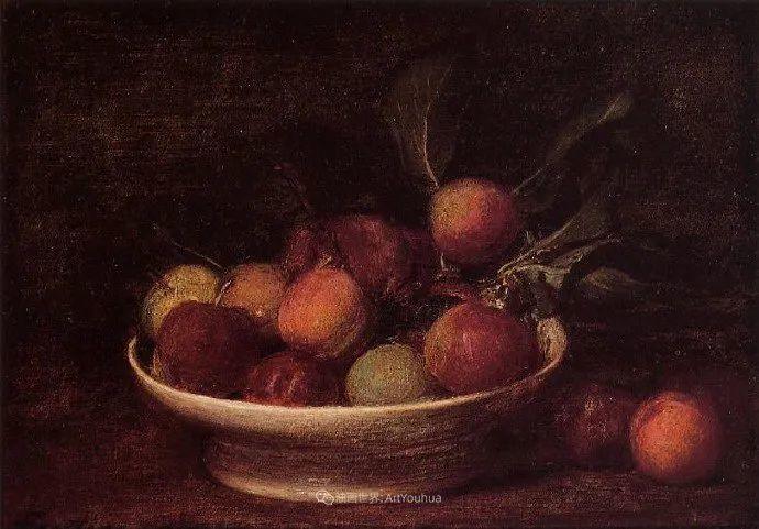 色彩细腻丰富,拉图尔水果静物作品插图19