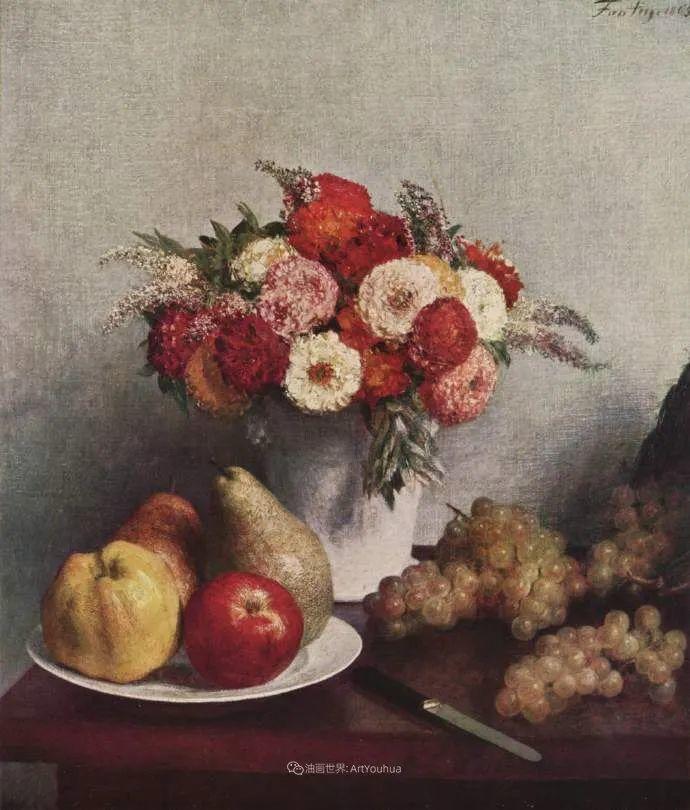 色彩细腻丰富,拉图尔水果静物作品插图20