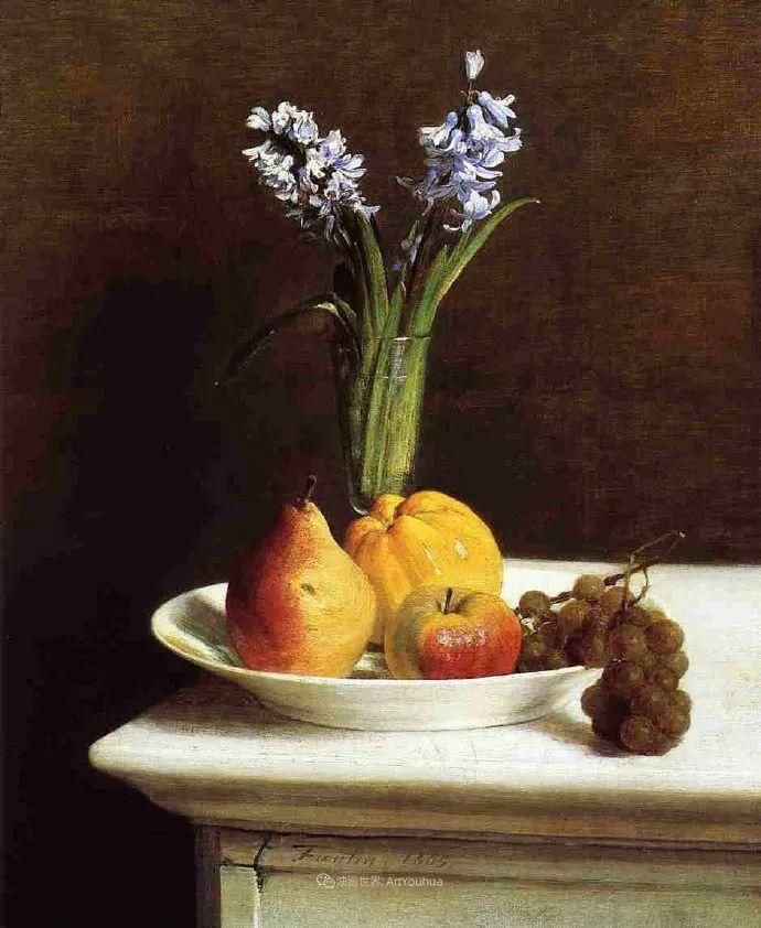 色彩细腻丰富,拉图尔水果静物作品插图25