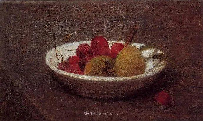 色彩细腻丰富,拉图尔水果静物作品插图28