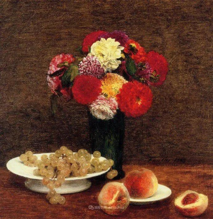 色彩细腻丰富,拉图尔水果静物作品插图30