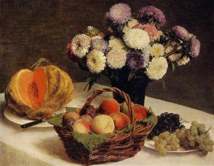 色彩细腻丰富,拉图尔水果静物作品插图33