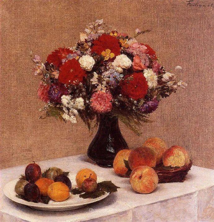 色彩细腻丰富,拉图尔水果静物作品插图35