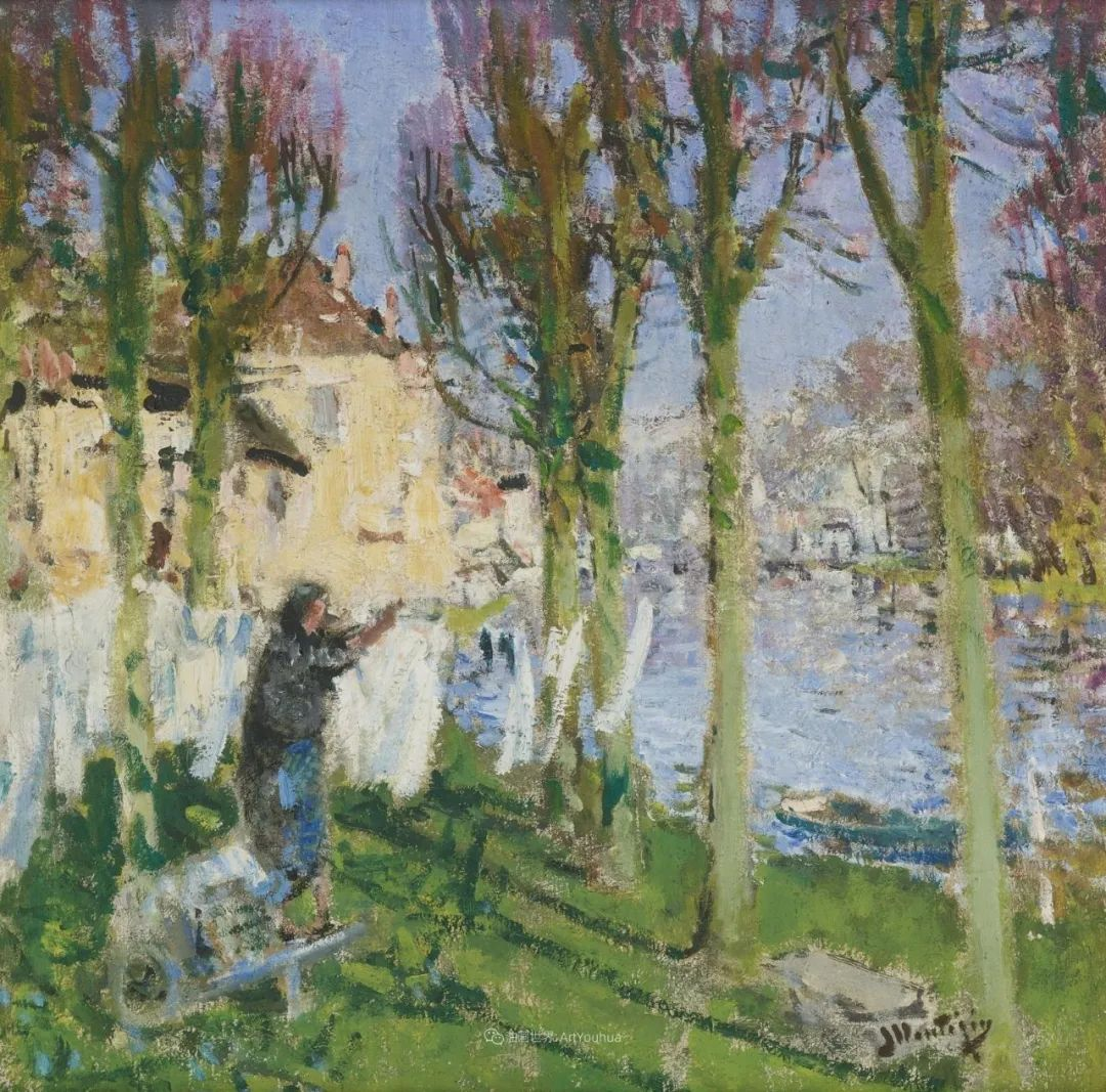 放大看,色彩笔触太赞了!法国美术学院第一任主席的画插图25
