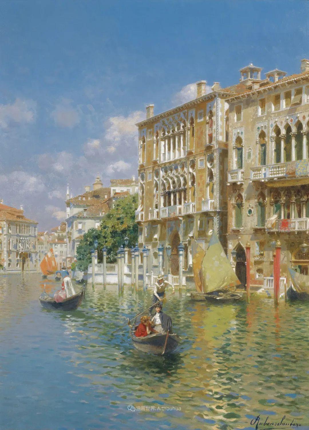 威尼斯风光,意大利画家鲁本斯·桑托罗插图3