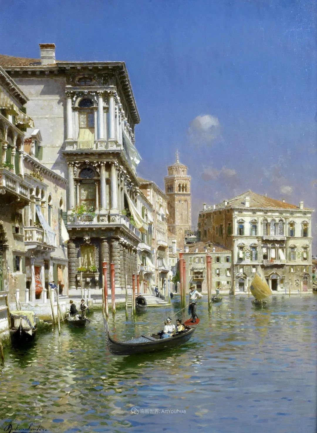 威尼斯风光,意大利画家鲁本斯·桑托罗插图5