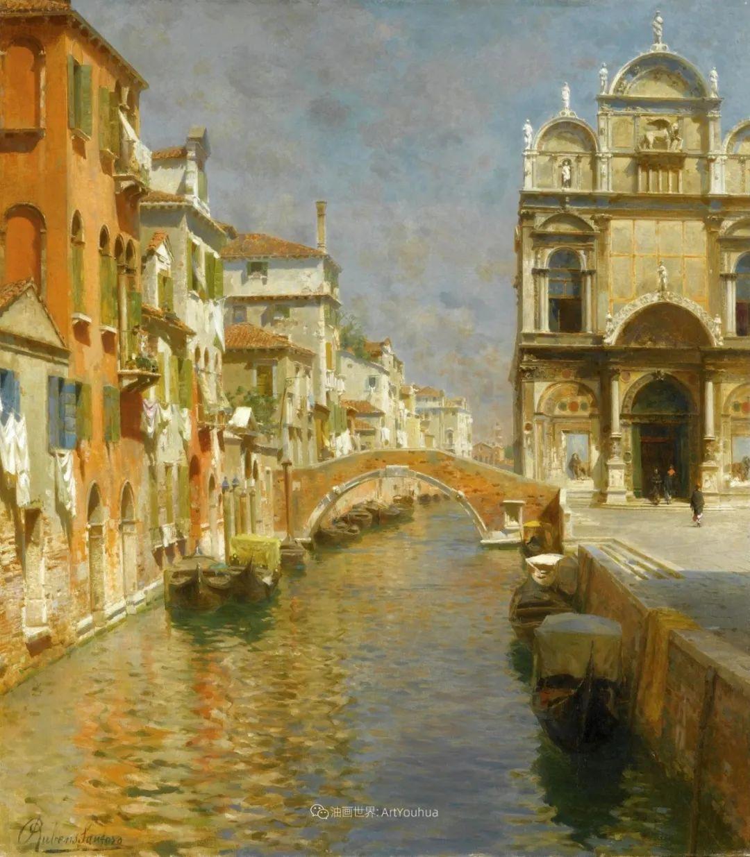威尼斯风光,意大利画家鲁本斯·桑托罗插图7