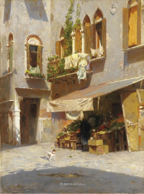 威尼斯风光,意大利画家鲁本斯·桑托罗插图9
