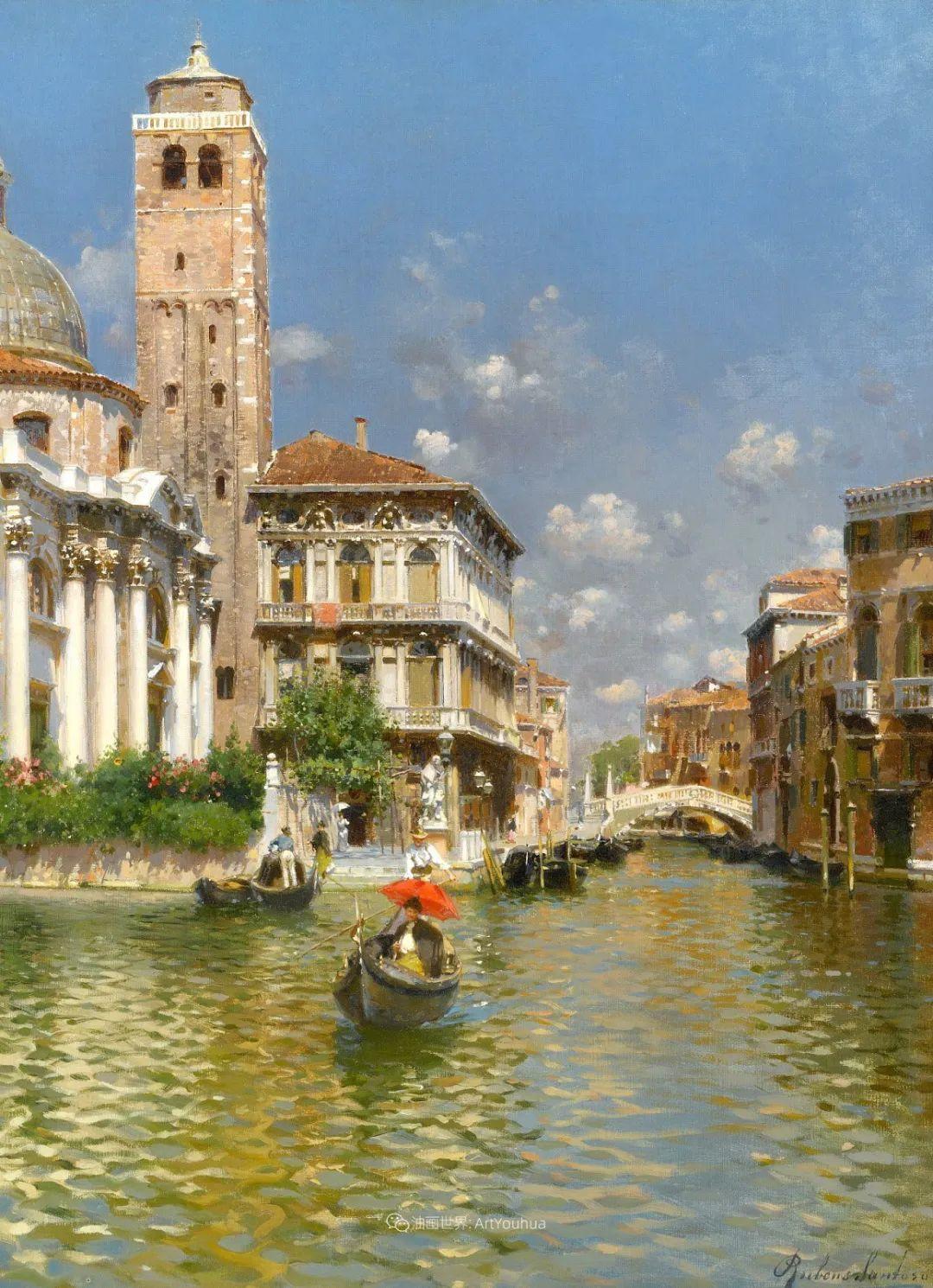 威尼斯风光,意大利画家鲁本斯·桑托罗插图11