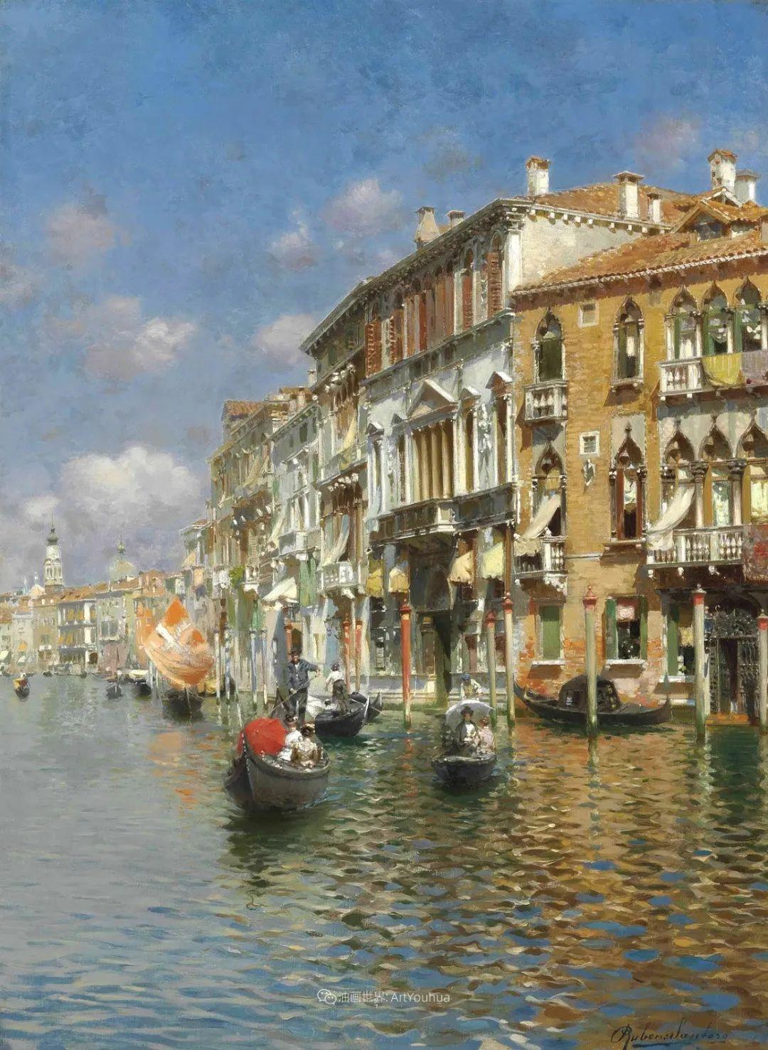 威尼斯风光,意大利画家鲁本斯·桑托罗插图13