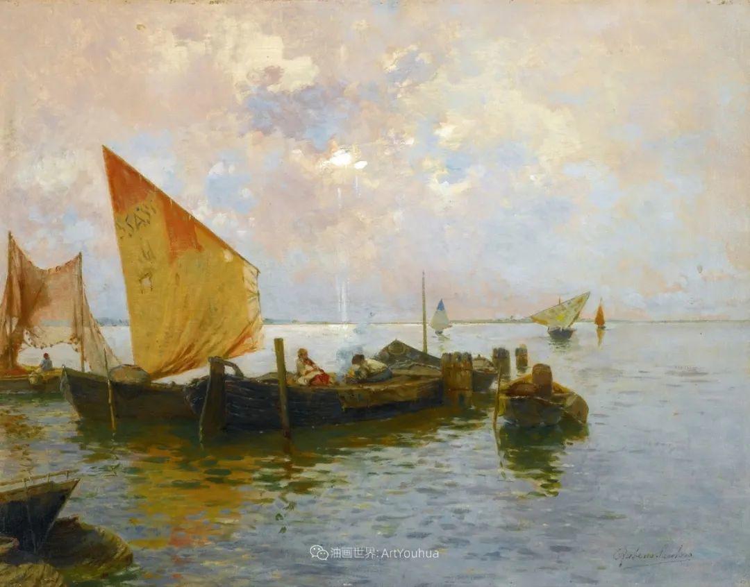 威尼斯风光,意大利画家鲁本斯·桑托罗插图17