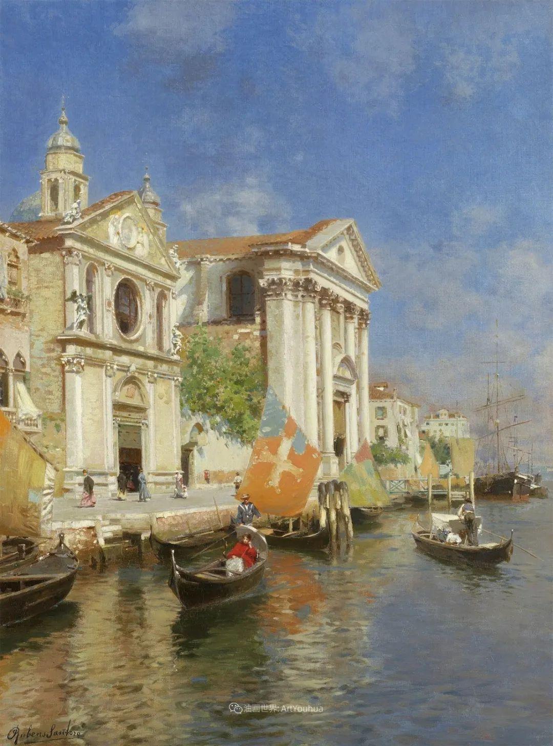 威尼斯风光,意大利画家鲁本斯·桑托罗插图19
