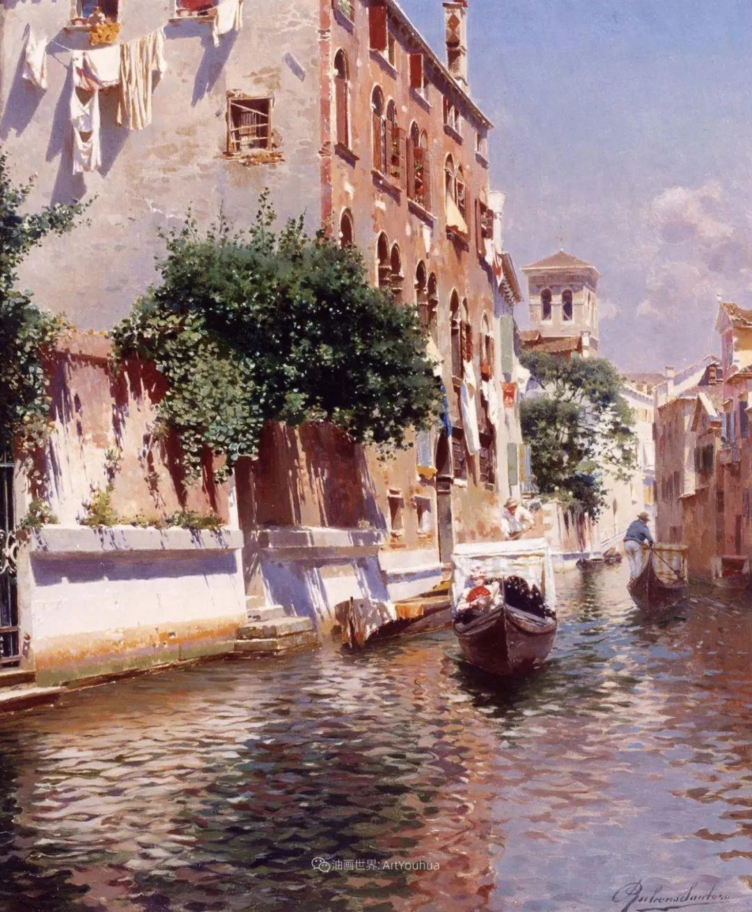 威尼斯风光,意大利画家鲁本斯·桑托罗插图21