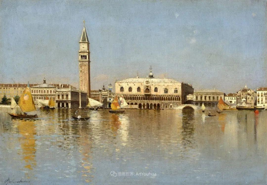 威尼斯风光,意大利画家鲁本斯·桑托罗插图25