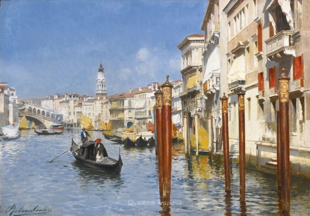 威尼斯风光,意大利画家鲁本斯·桑托罗插图27