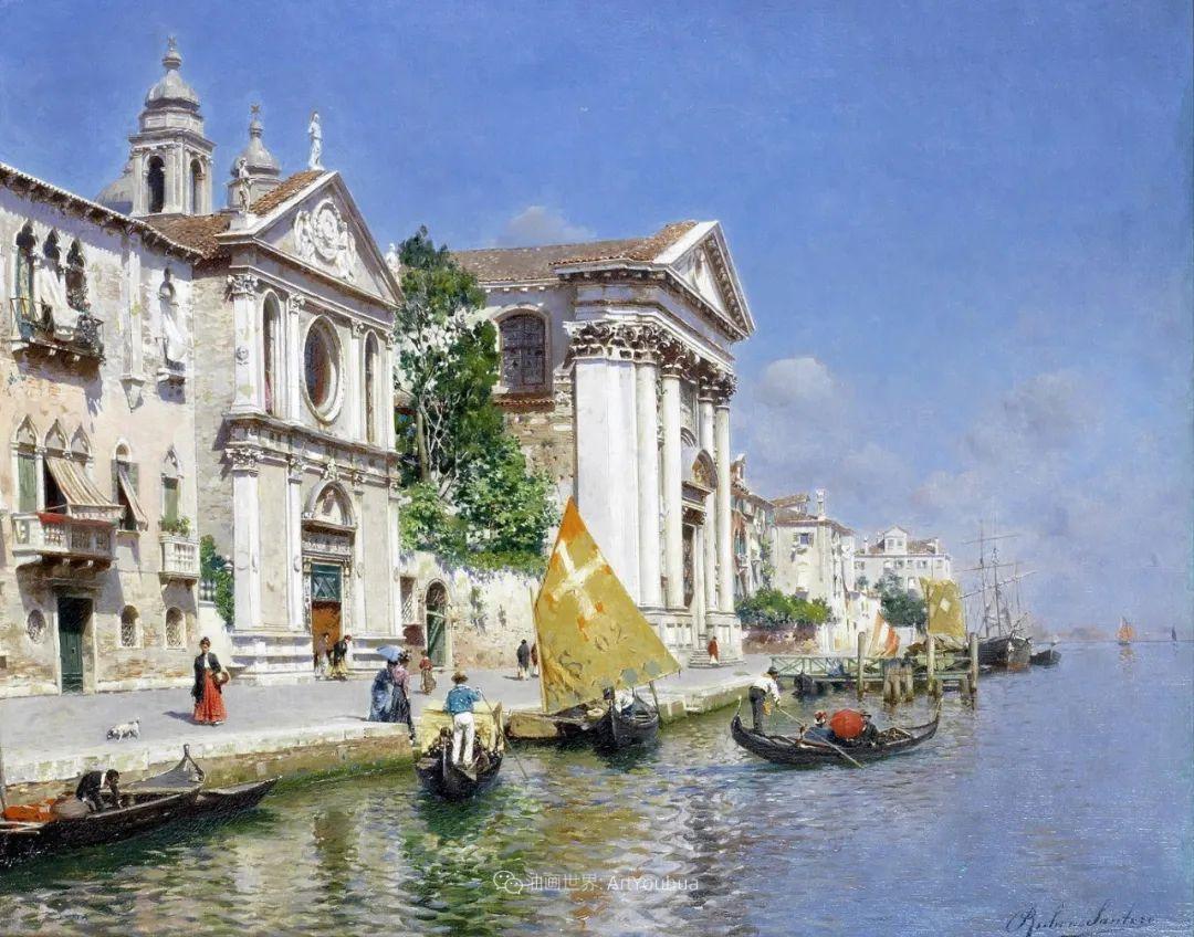 威尼斯风光,意大利画家鲁本斯·桑托罗插图29