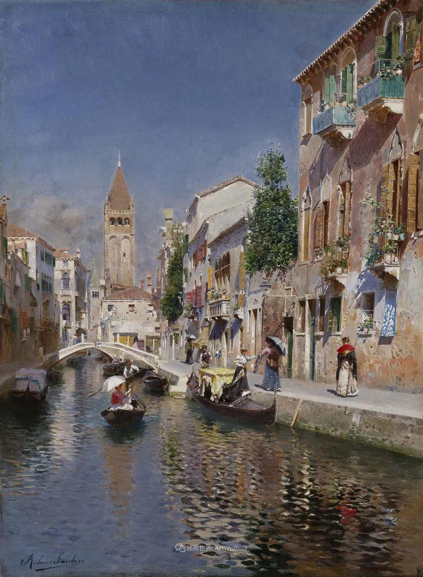 威尼斯风光,意大利画家鲁本斯·桑托罗插图31