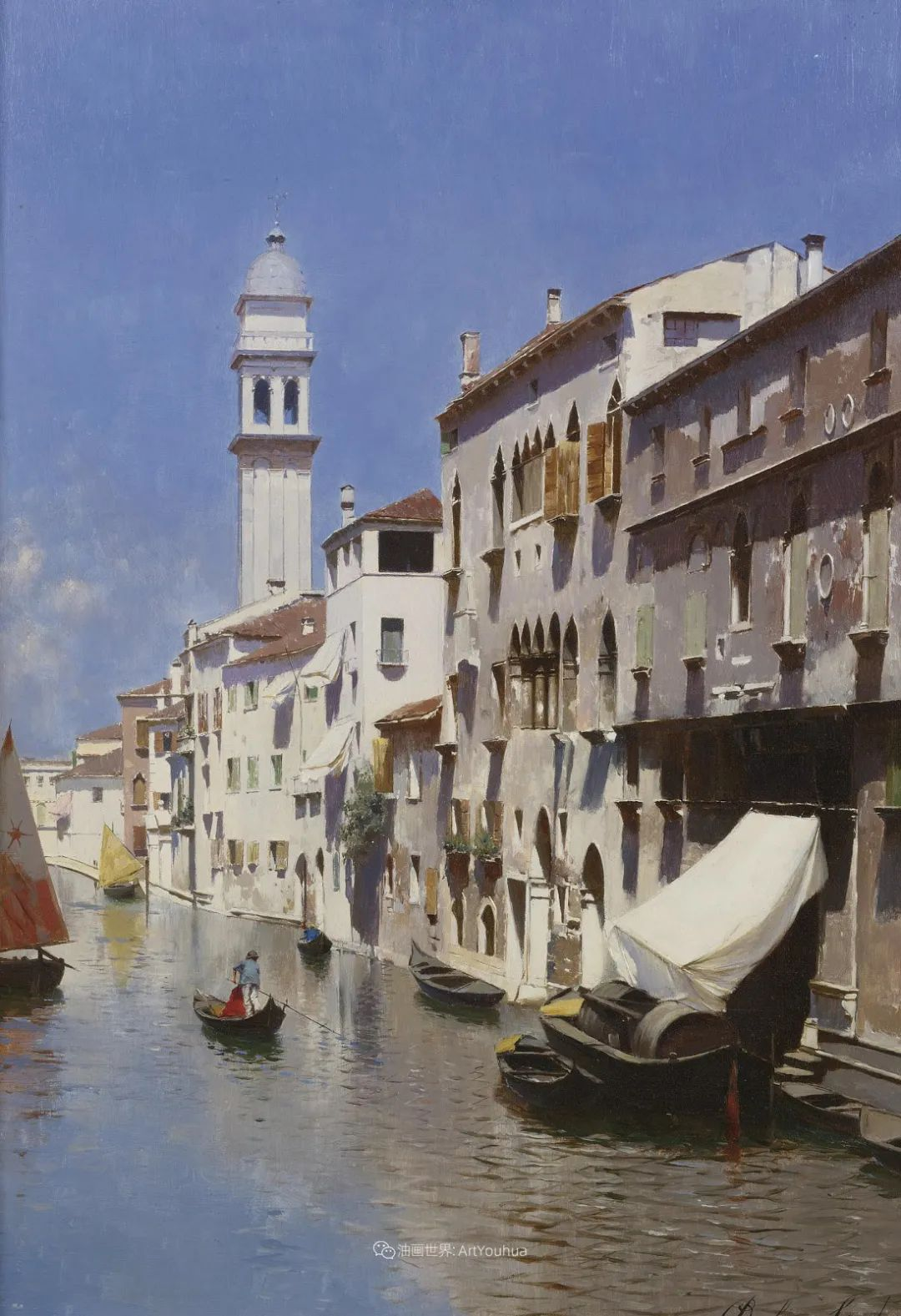 威尼斯风光,意大利画家鲁本斯·桑托罗插图33