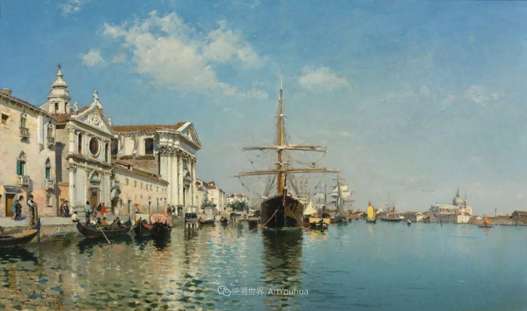 威尼斯风光,意大利画家鲁本斯·桑托罗插图35