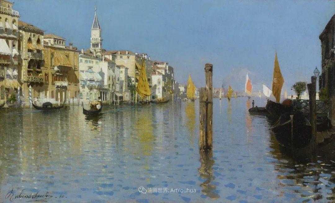 威尼斯风光,意大利画家鲁本斯·桑托罗插图49