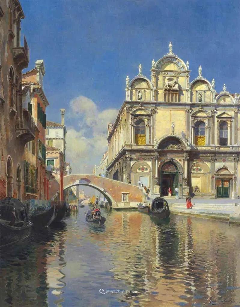 威尼斯风光,意大利画家鲁本斯·桑托罗插图53