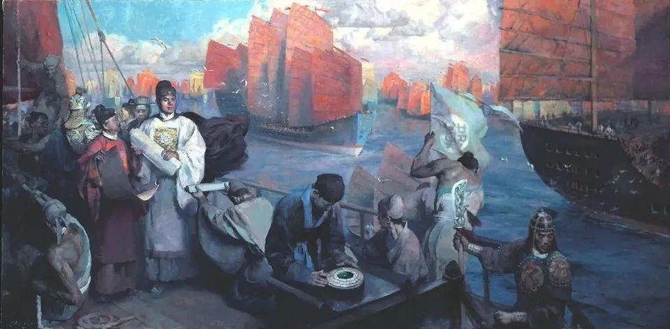 他创作了一批中国历史画,独树一帜于美国画坛!插图2