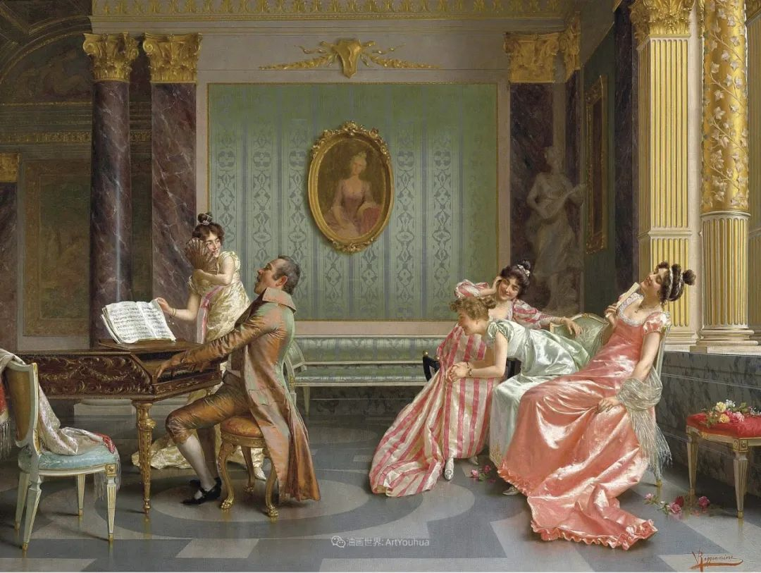 充斥着浪漫音符的贵族生活,衣服质感太强了!插图11