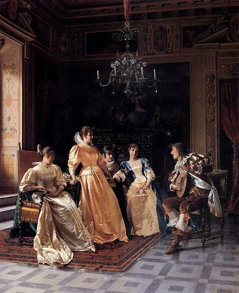 充斥着浪漫音符的贵族生活,衣服质感太强了!插图45