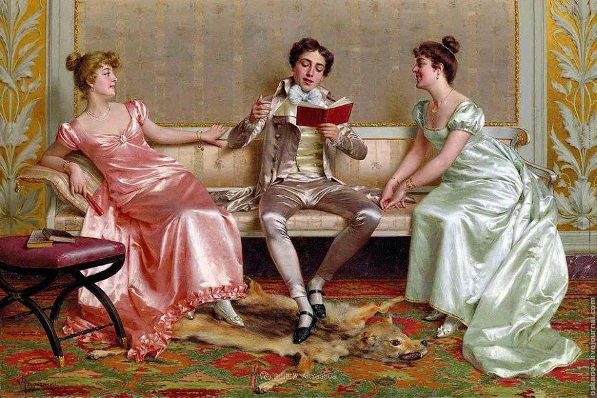 充斥着浪漫音符的贵族生活,衣服质感太强了!插图59