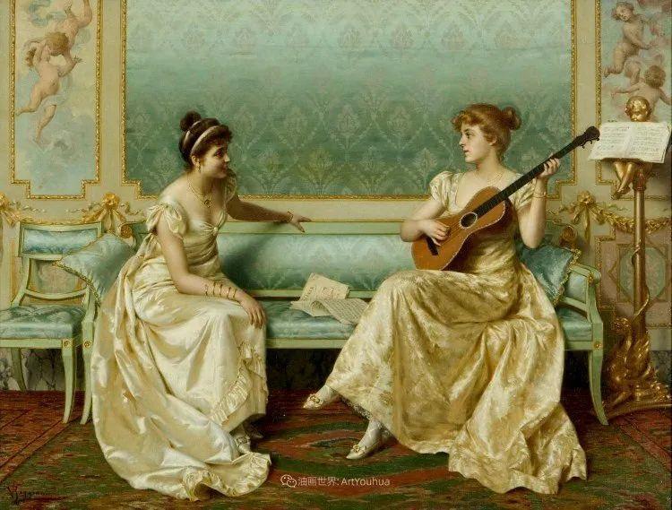 充斥着浪漫音符的贵族生活,衣服质感太强了!插图117