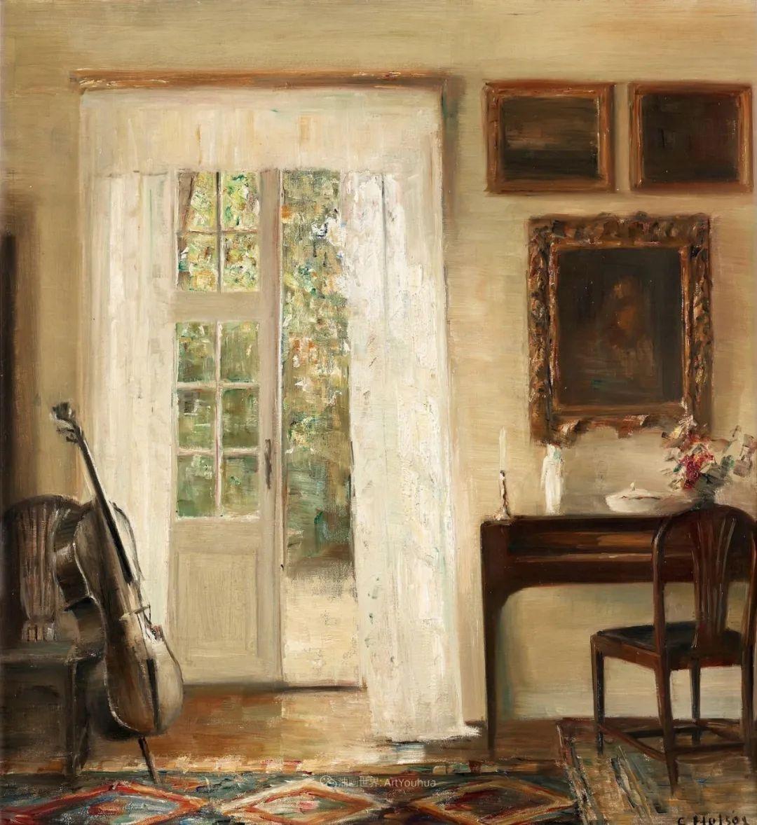 室内一角,Carl Vilhelm Holsoe (下)插图1