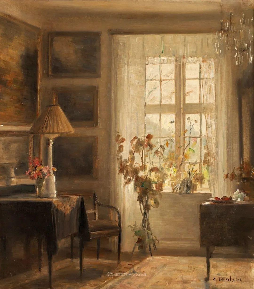 室内一角,Carl Vilhelm Holsoe (下)插图5