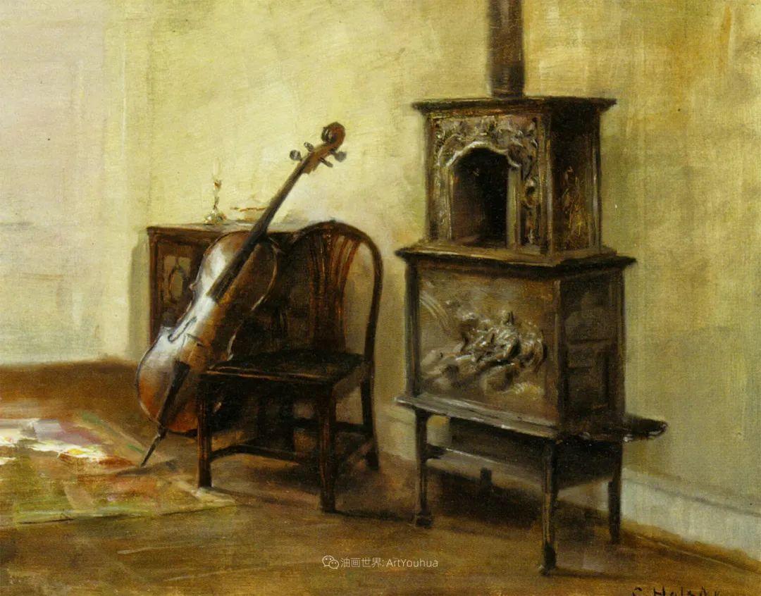 室内一角,Carl Vilhelm Holsoe (下)插图21