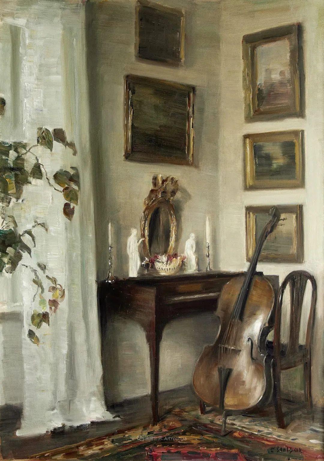 室内一角,Carl Vilhelm Holsoe (下)插图23