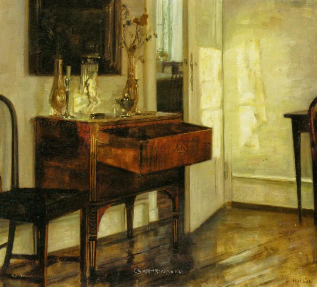 室内一角,Carl Vilhelm Holsoe (下)插图29