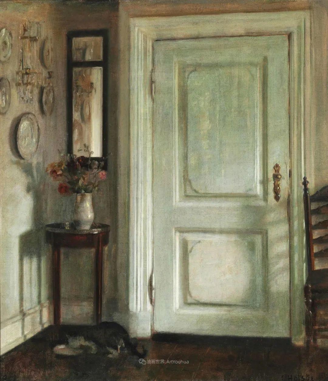 室内一角,Carl Vilhelm Holsoe (下)插图31