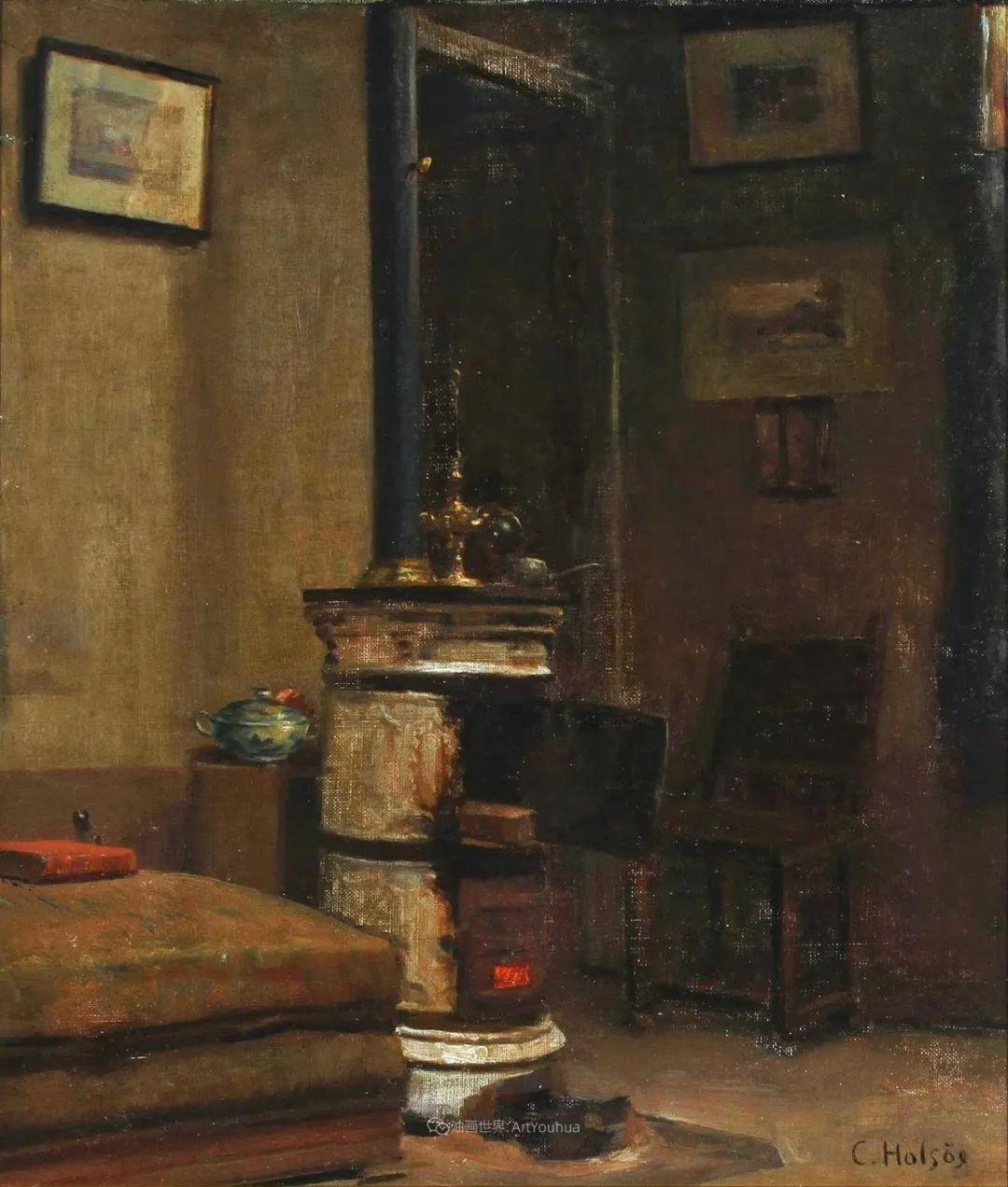 室内一角,Carl Vilhelm Holsoe (下)插图33