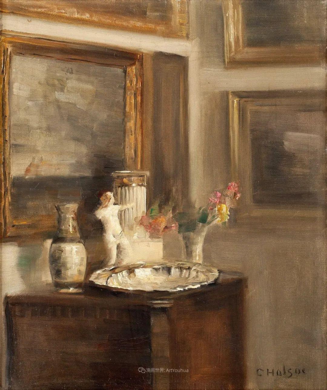 室内一角,Carl Vilhelm Holsoe (下)插图35