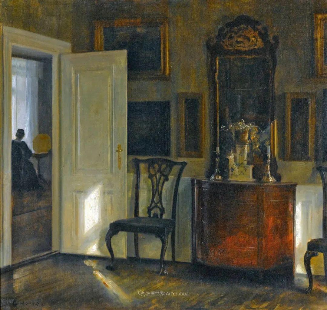 室内一角,Carl Vilhelm Holsoe (下)插图45