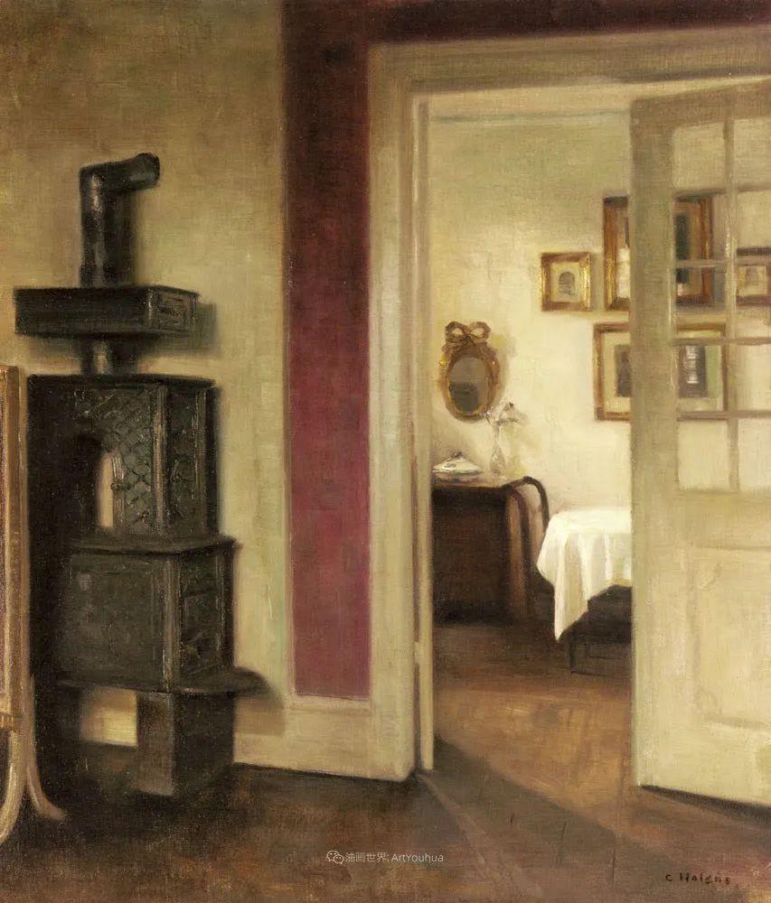 室内一角,Carl Vilhelm Holsoe (下)插图47