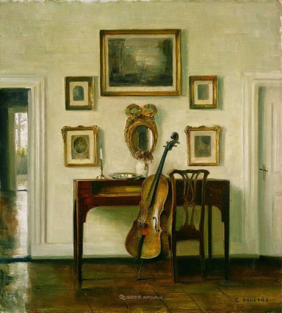 室内一角,Carl Vilhelm Holsoe (下)插图49