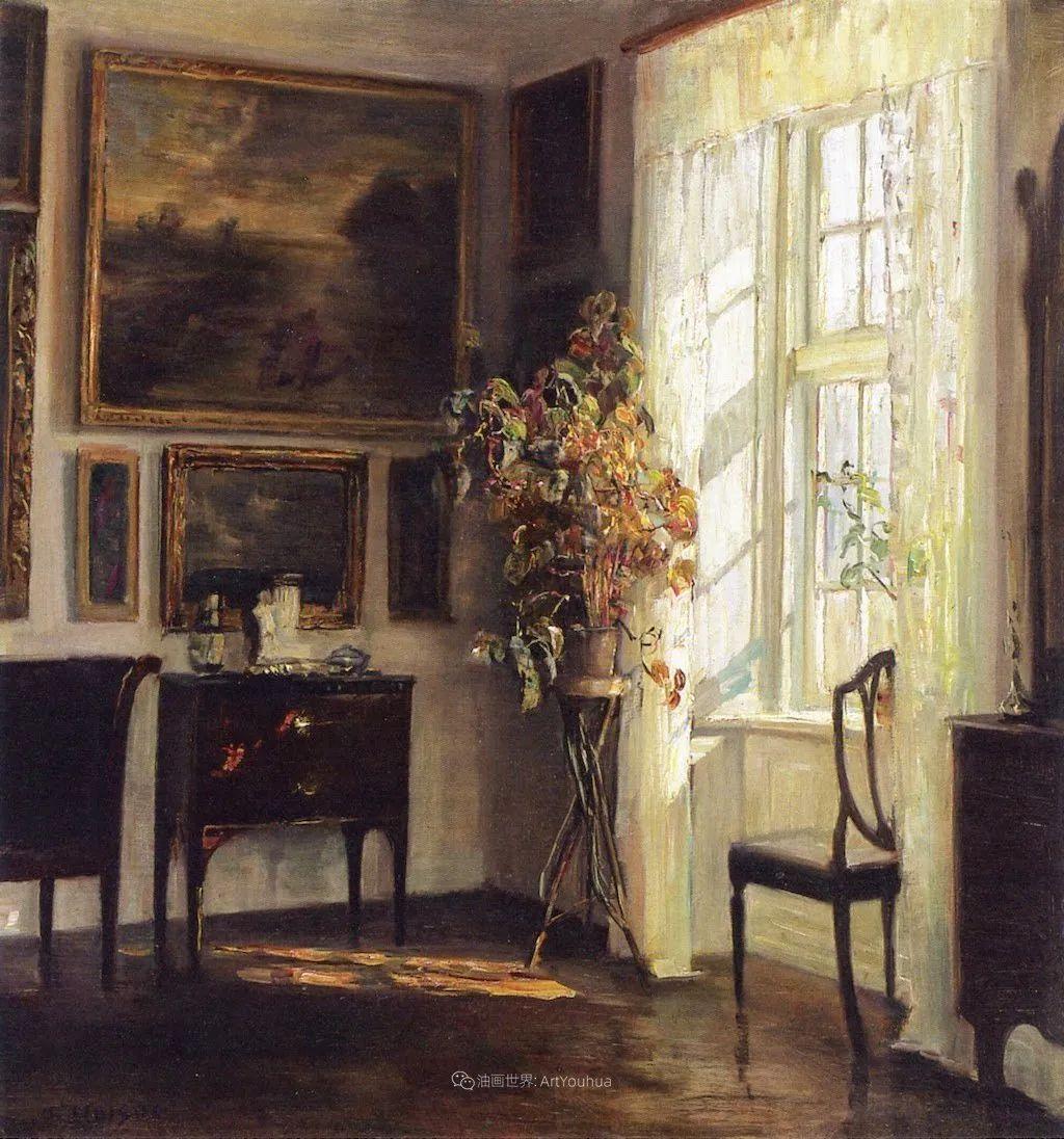 室内一角,Carl Vilhelm Holsoe (下)插图55