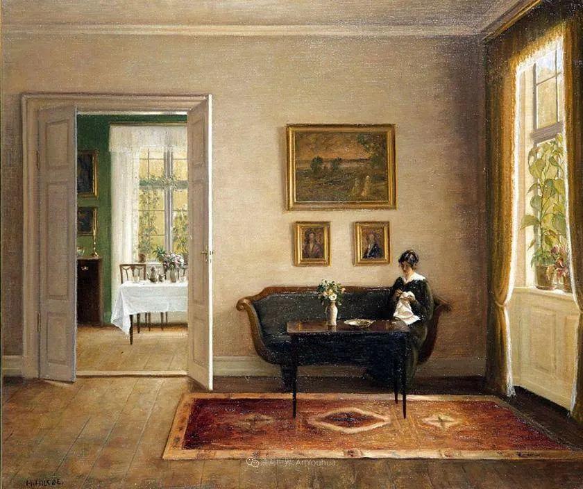 室内一角,Carl Vilhelm Holsoe (下)插图59
