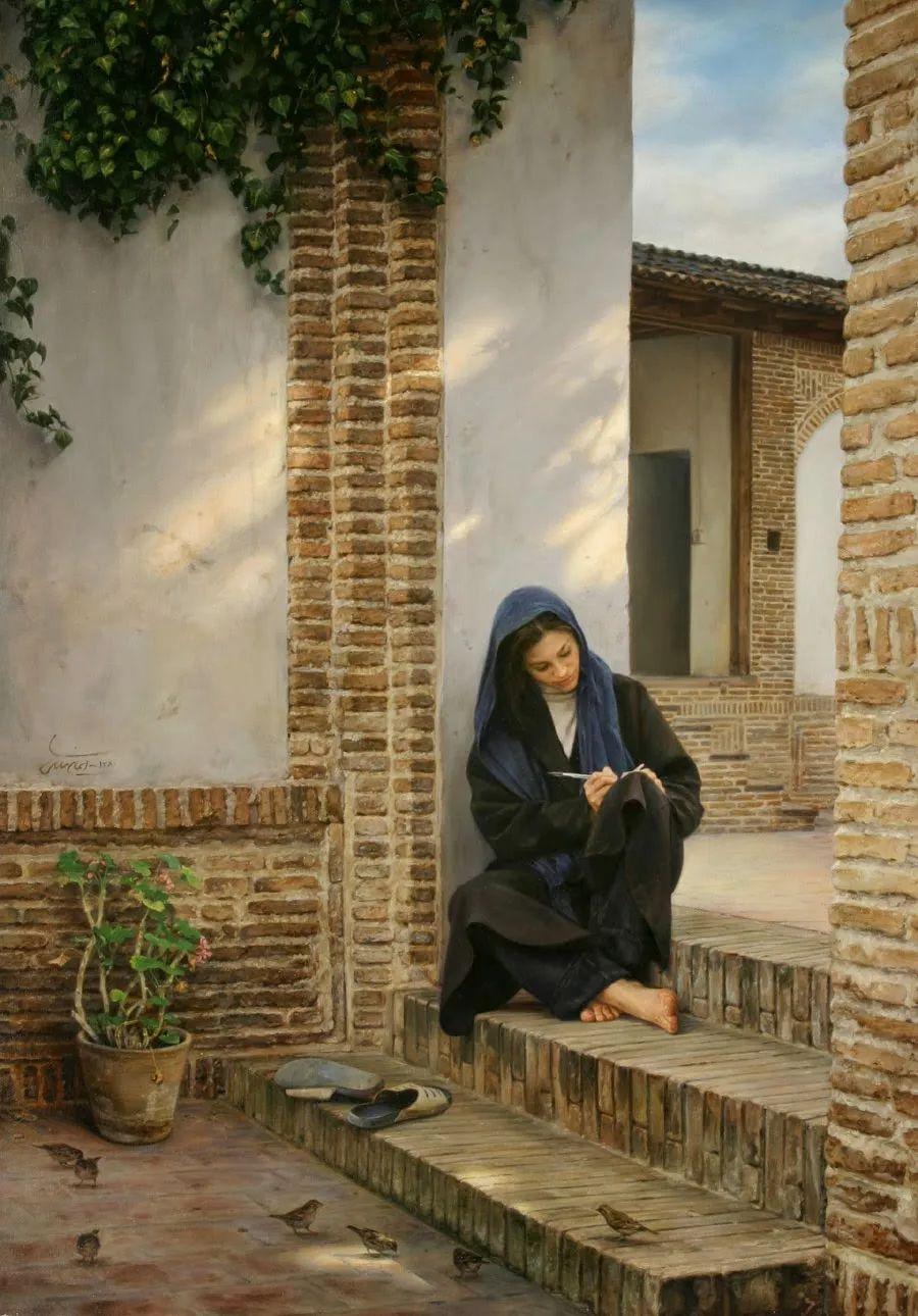 隐藏于内的情感释放,伊朗画家Iman Maleki插图5