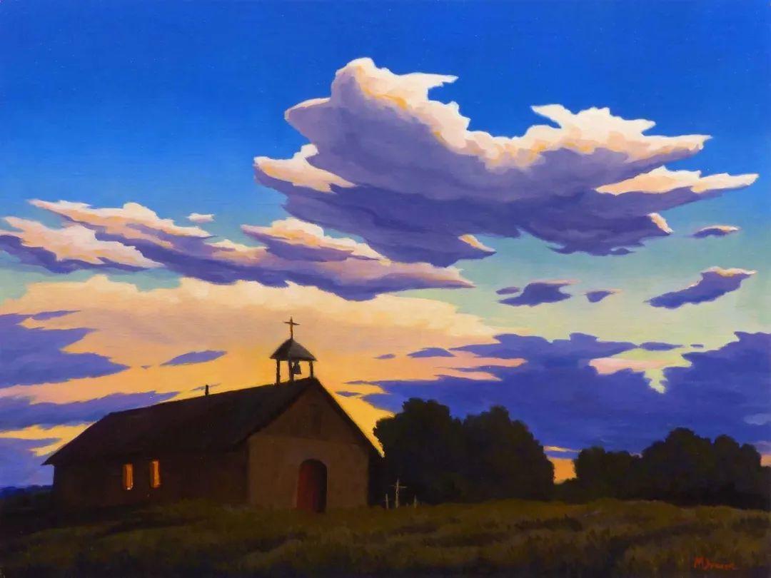 壮丽的具象风景,美国画家Michael Baum插图1