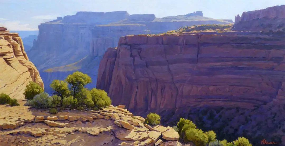 壮丽的具象风景,美国画家Michael Baum插图5