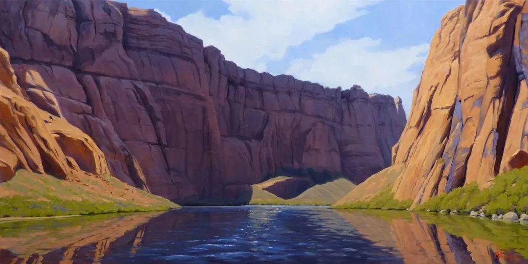 壮丽的具象风景,美国画家Michael Baum插图7
