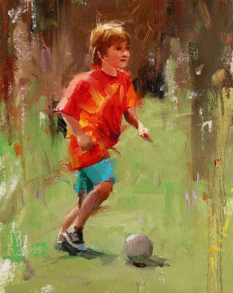 色彩、光感、笔触,表现淋漓尽致!他是物理学家也是职业画家!插图119
