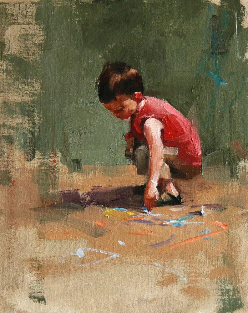 色彩、光感、笔触,表现淋漓尽致!他是物理学家也是职业画家!插图123
